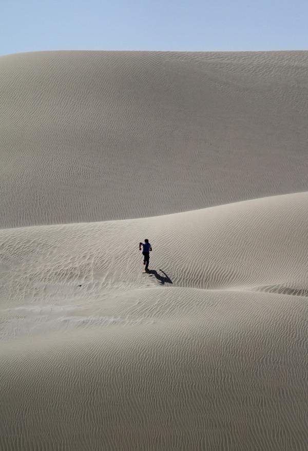 Człowiek na pustyni